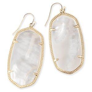 Kendra Scott Mother-of-Pearl Gold Drop Earrings